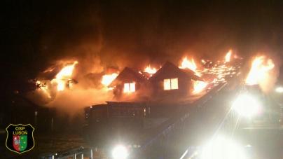 Duży pożar karczmy w Krajkowie