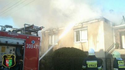 Pożar domu przy ulicy Rivoliego w Luboniu