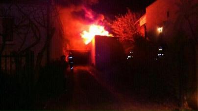 Pożar na ul. Kwiatowej w Luboniu