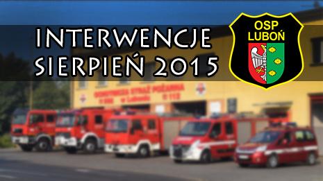 Interwencje sierpień 2015