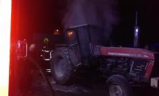 Pożar ciągnika rolniczego