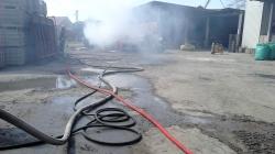 Chomęcice -pożar garażu