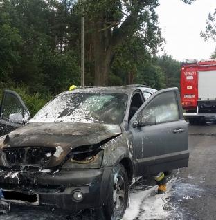 Pożar samochodu w Łęczycy