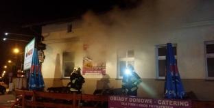 Nocny pożar restauracji
