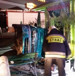 Wypadek na parkingu przy C.H. PAJO