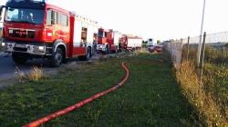 Pożar warsztatu w Komornikach