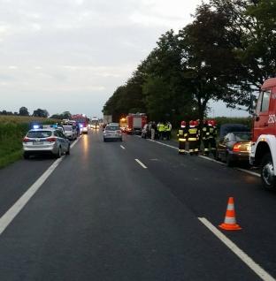 Wypadek z udziałem 6 samochodów