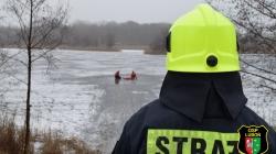 Wyciąganie osoby poszkodowanej z jeziora [film]