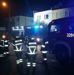 Pożar sadzy przy ulicy Niepodległości
