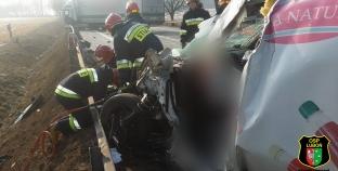 Groźny wypadek na DK 5 , Lądował LPR