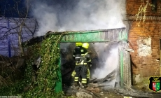 Pożar pustostanu na Dworcowej