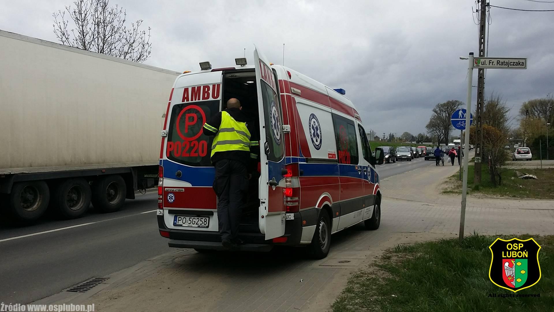 Wypadek na Armii Poznań – jedna osoba poszkodowana