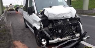 Wypadek na A2 + Filmik z dojazdu do zdarzenia