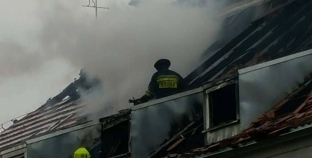 Duży pożar przedszkola / ewakuacja dzieci [GALERIA]