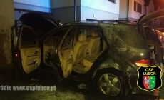 Nocny pożar Mercedesa