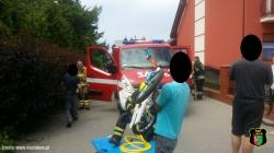 Uwięziona noga 5-letniego chłopca
