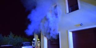 Luboń, Poznańska – Pożar garażu, poszkodowani  [film]