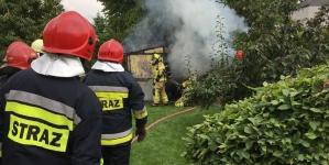 Pożar garażu przy ulicy Poniatowskiego