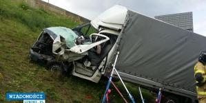 Wypadek na autostradzie A2