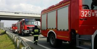 Głogowska – samochód w rowie / jedna osoba ranna