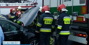 Wypadek na DK5, jedna osoba została ranna