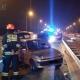 Zderzenie samochodów na autostradzie A2