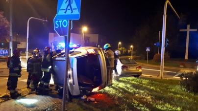 Zderzenie dwóch pojazdów na ulicy Powstańców Wielkopolskich