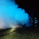Nocny pożar samochodu osobowego