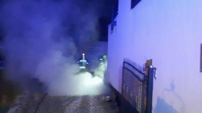 Pożar piwnicy na Sobieskiego