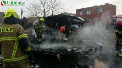 Pożar dwóch przyczep na Konarzewskiego