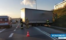 Na autostradzie A2 odczepiła się naczepa z towarem
