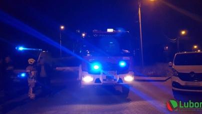 Pożar w kuchni na Dąbrowskiego w Luboniu