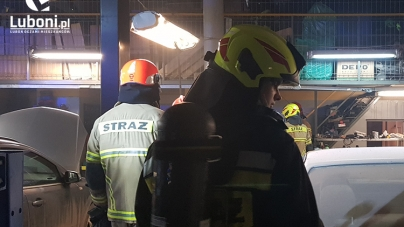 Luboń Korczaka – Pożar w warsztacie, na miejscu 4 zastępy