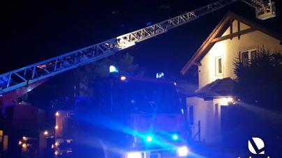 Pożar w przewodzie kominowym na Wczasowej