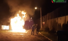 Wieczorny pożar na stadionie