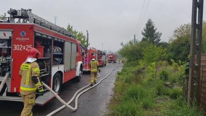 Pożar pustostanu w Poznaniu