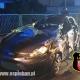 Nocne dachowanie samochodu