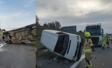 Poranny wypadek na A2 – 2 os. poszkodowane