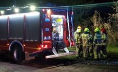 Pożar agregatu, altany oraz składu drewna