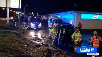 Zderzenie 4 samochodów na rodzie Żabikowskim