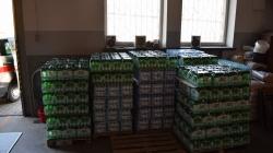 10000 butelek wody w naszej remizie !