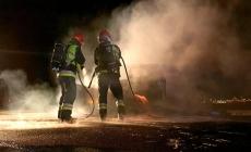 Pracowita sobota – pożar, transport, dezynfekcja
