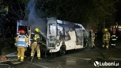 Pożar samochodu dostawczego