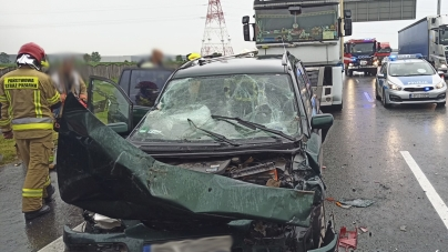 Wypadek na A2 – 3 os. poszkodowane