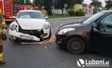 Wypadek z udziałem dwóch osobówek