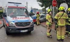 Wypadek na  Żabikowskiej – 1os. poszkodowana