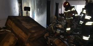 Pożar w budynku nowej szkoły