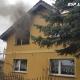 Pożar budynku mieszkalnego