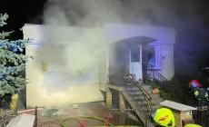 Wieczorny pożar budynku mieszkalnego