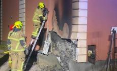 Pożar skrzynki elektrycznej
